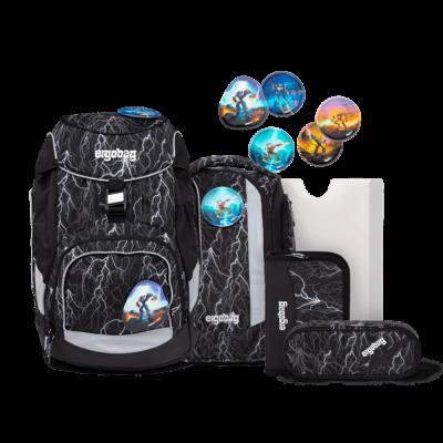 ergobag Pack School Backpack Set Super ReflectBear Glow